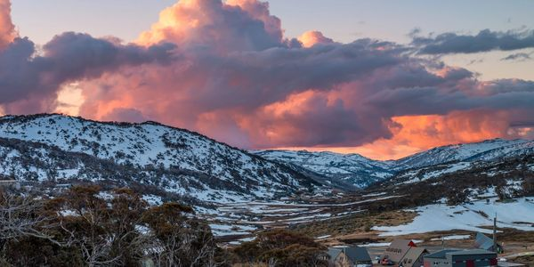 stunning perisher views over perisher ski resort  and beyond