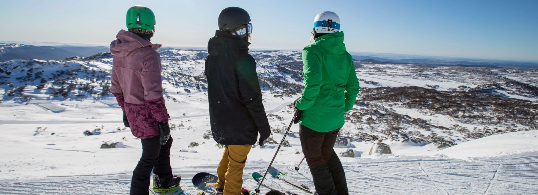 Looking out over the Perisher resort