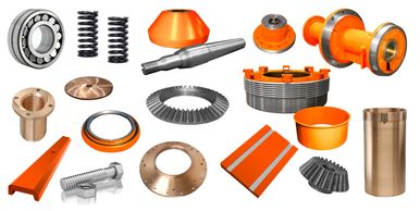 bushes, head nuts, pinion, eccentric, spider cap, countershaft box, feed plate, socket liner