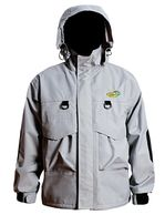 Fishing Wading Jacket Waterproof Lightweight Raincoat with Stowable Hood foul Weather Gear