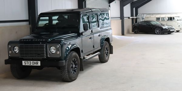 Landrover defender xs for sale at Dart motor storage Dehumidified secure fully insured car storage
