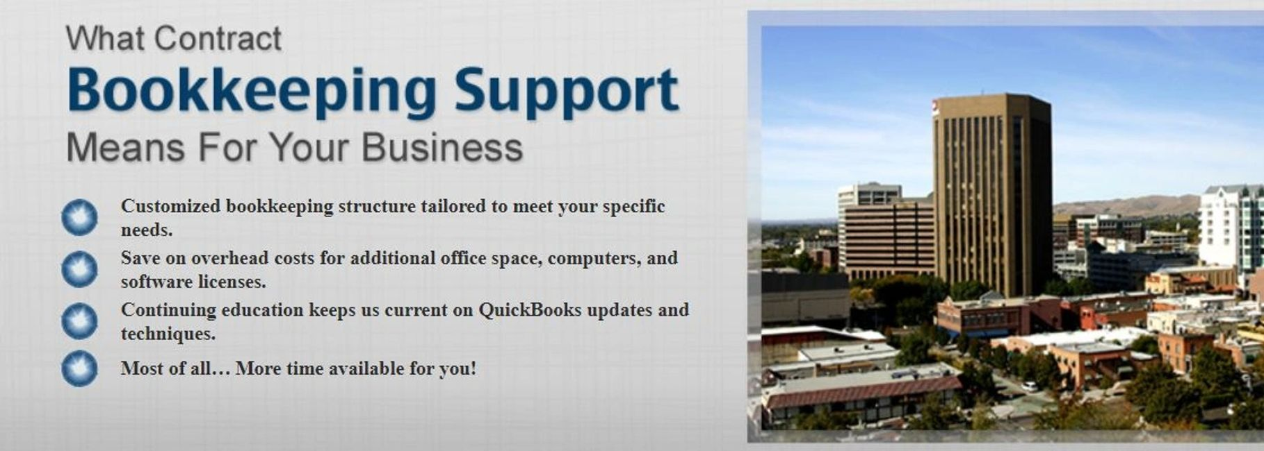 Bookkeeper and accounting in Boise Idaho, serving Nampa Eagle Meridian with Quickbooks Pro Advisor