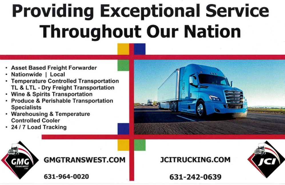 GMG Transwest Long Island Based Asset Trucking Company Nationwide Freight & Local Freight Shipping LTL & FTL Freight Direct Service Pallet Program