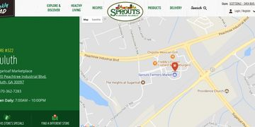 Sprouts Farmers Market, Store # 522, 2220 Peachtree Industrial Blvd, Duluth, GA 30097
