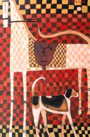 American Horse and  Hound  Acrylic on Canvas 72 x 48 x 1 3/8