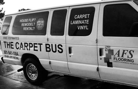 thecarpetbus.com shop at home experience free in home estimates