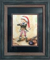 Framed Matted Mary Jardin wimberley Original Paintings, Framed Prints, Santa's Helper