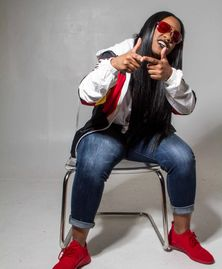 Red Shaydez, female rapper from Boston.