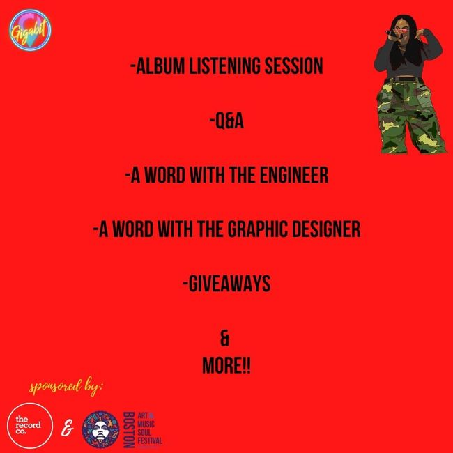 Red Shaydez Feel The Aura Virtual Album Release Party Order of Events