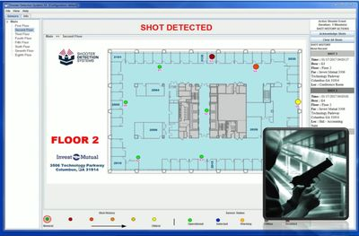 Locate a shooter quickly in your building with instant notifications and a live GUI display!