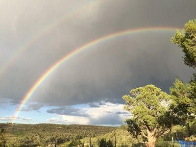 Rainbow over Piñon-Juniper Woodland