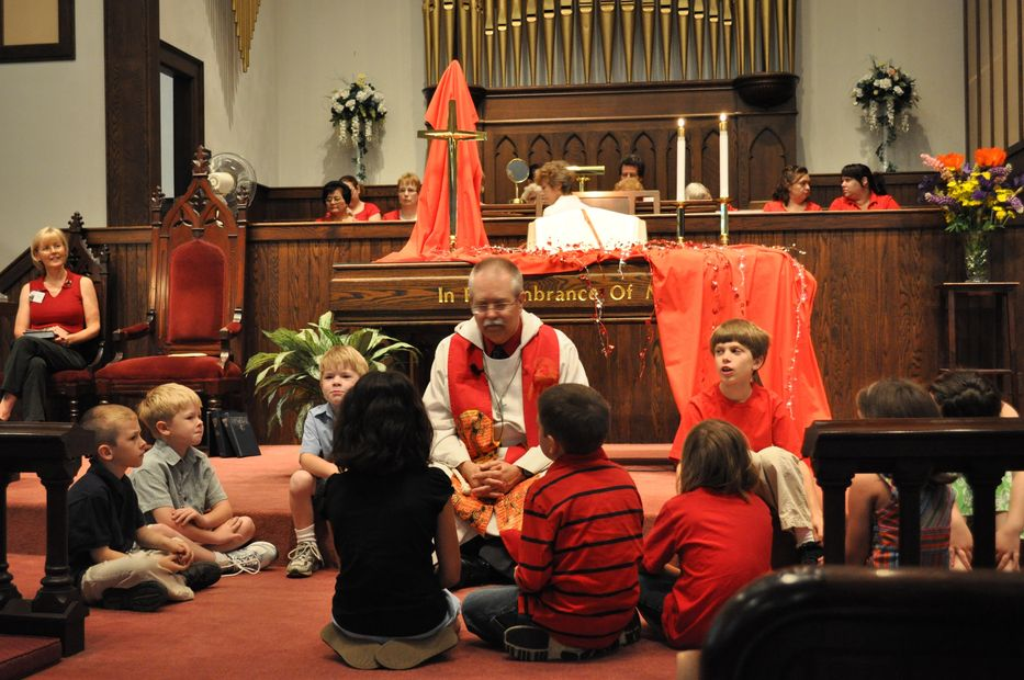 The children enjoy their own special time with the pastor during every Sunday service.