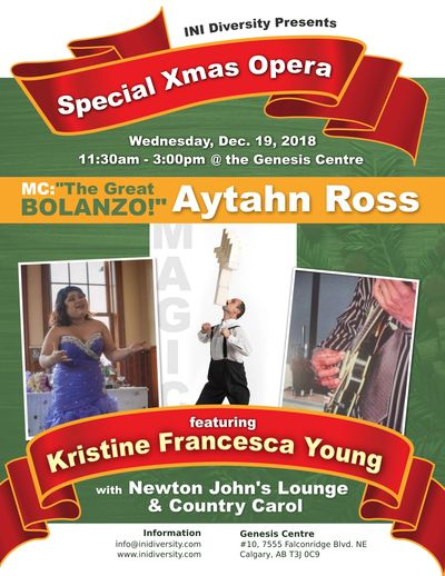 Kristine's Yuletide Classical/Opera  & Newton's Country Lounge Carol + Great Balanzo's Circus\Magic