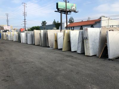 Royal Stone & Tile large outdoor slab yard in West Los Angeles Serving Beverly Hills and local areas