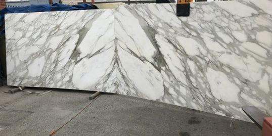 Royal Stone and Tile in Los Angeles imports marble slabs from Italy Antolini and Granziani