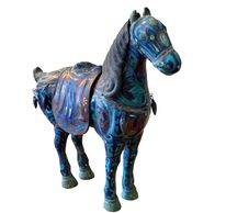 Chinese Cloisonné Incense Burner Horse