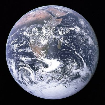"""The Blue Marble"" photo of Earth, taken by the crew of Apollo 17 (7 Dec 1972)."