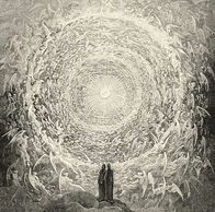 Dante & Beatrice gaze upon Heaven (The Empyrean); Gustave Doré ( Divine Comedy, Paradiso Canto 31)