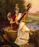 The Goddess Saraswati, Raja Ravi Varma, 1895.