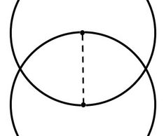 Vesica Piscis (vertically aligned with dashed line holding the place of the radius). - Thea