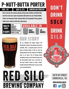 Red Silo P-Nutt-Butta Porter Beer