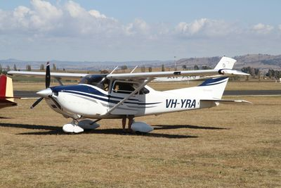 VH YRA at Childers on the Long Way Round to Townsville