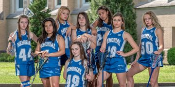Memorial  women's lacrosse team by Roebling photo