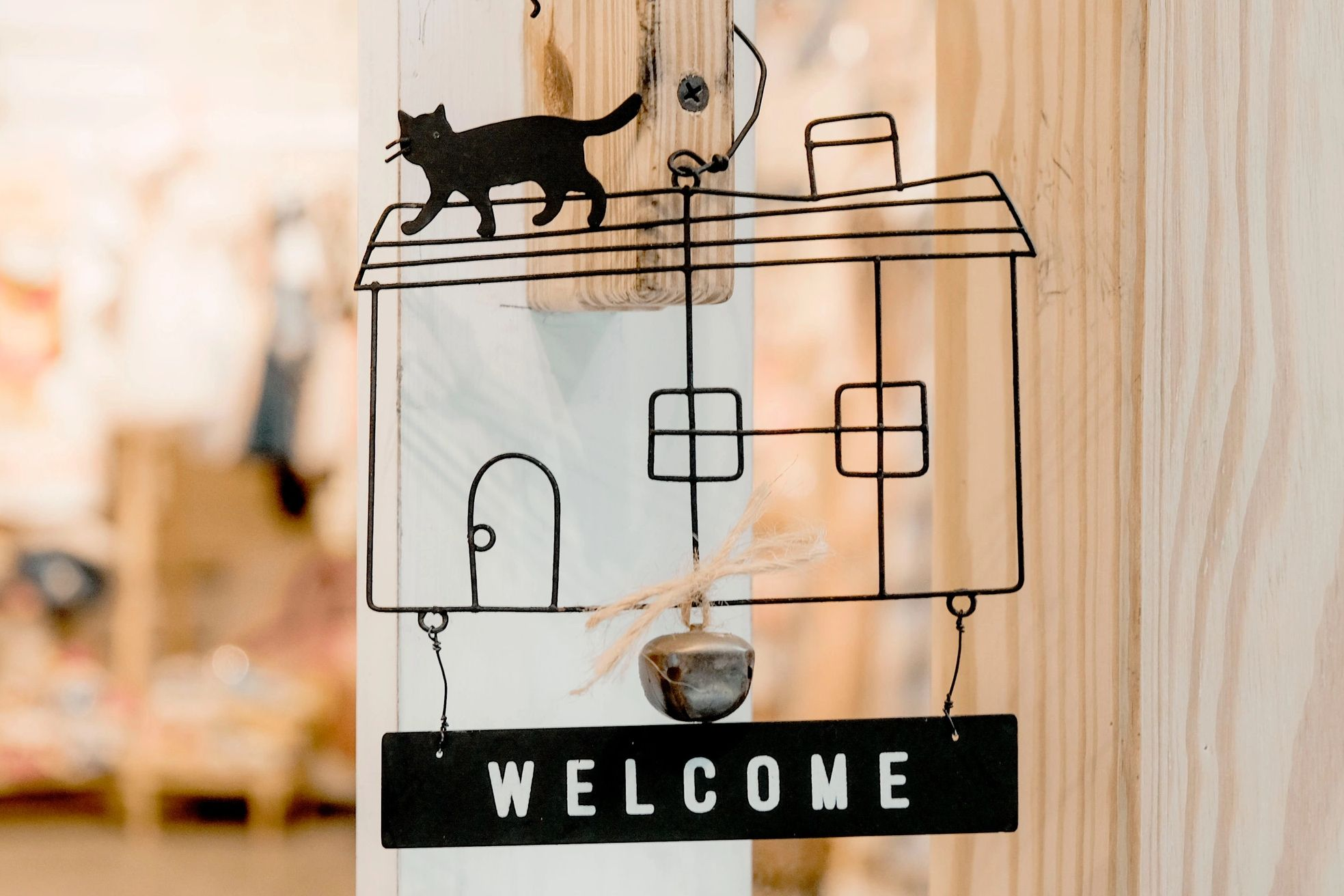 Photo by Henry & Co. from Pexels Welcome hanging sign