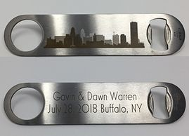 Custom engrave two sided bottle opener
