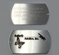 custom double sided dog tags