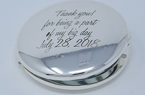 custom engraved silver compact