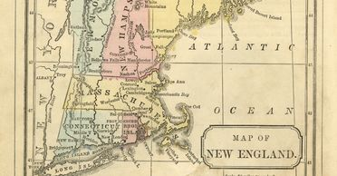 Old map of New England