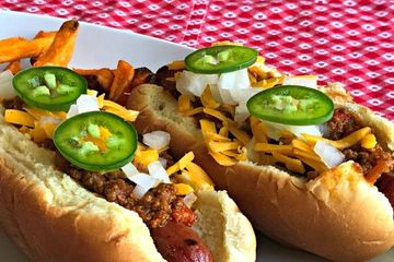 Texas Chili dogs served on Our Chili Bar! Great idea for Bachelor parties!