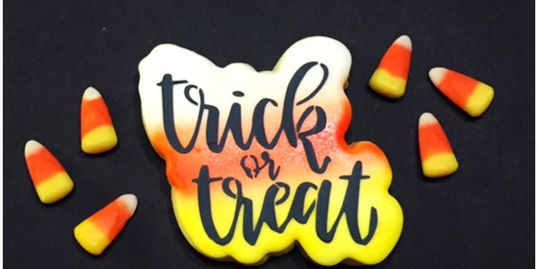 Creative Cookiery Trick or Treat Halloween Decorated Sugar Cookie