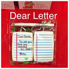 """Dear"" Letter Cookie"