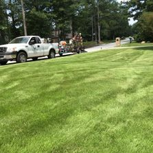 A lawn with lawn care treatment in Roswell, GA