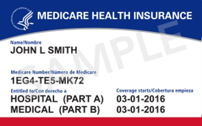 medicare new card - part A, Part B original medicare