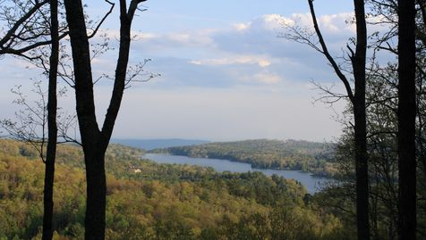 View of Lake Toxaway and the Blue Wall from our site on Little Panthertail Mountain.