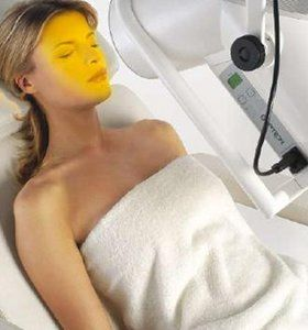Bioptron Light therapy with rejuvenating plumping facial to hydrate the skin and soften facial lines