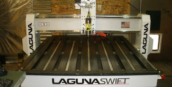 Laguna router table for custom signs.  It cuts acrylic signs, wood signs and engraves metal.