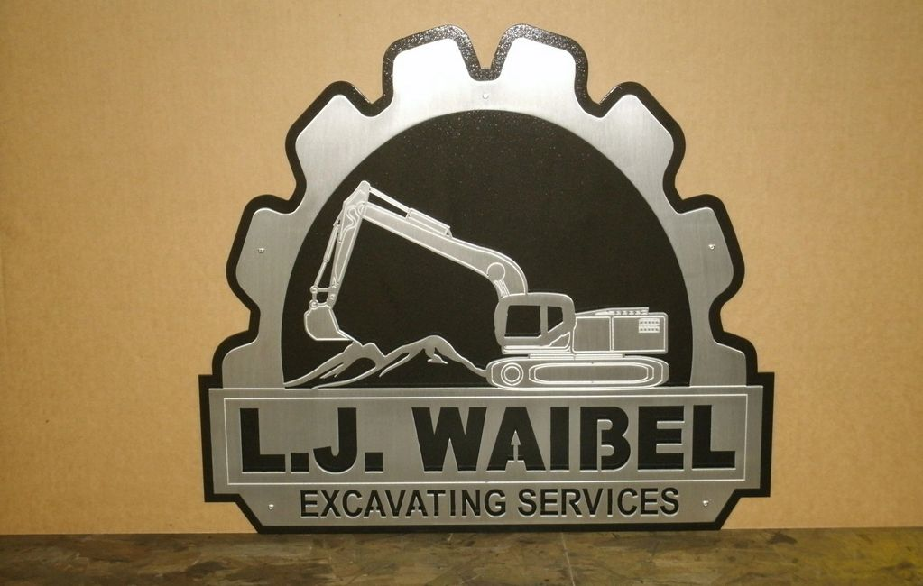 Business signs such as this one can be made from layered metals by simply emailing me your logo.