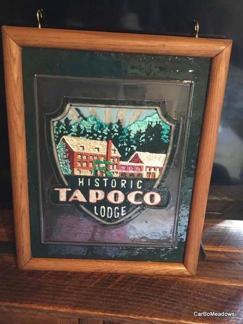 My rendition of the historic Tapoco Lodge sign