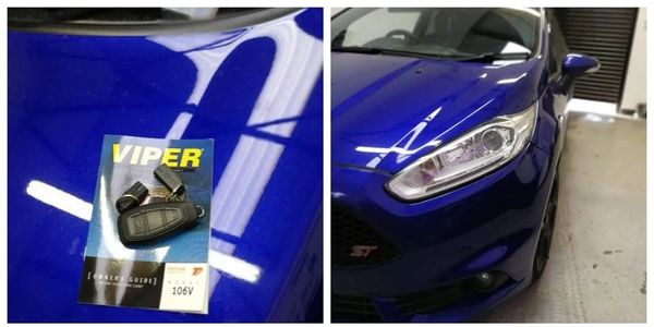 ford fiesta st secured with the viper 106v immobiliser