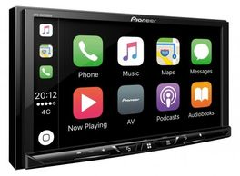 pioneer double din mechless car with apple car play