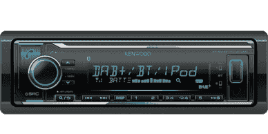 kenwood dab single din radio