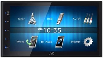 jvc touchscreen double din radio