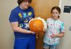 Zack and Ashlynn with the Wolf pumpkin