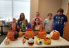 Our Teams with their finished pumpkins!