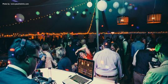Asheville wedding DJ and mobile DJ dance party.