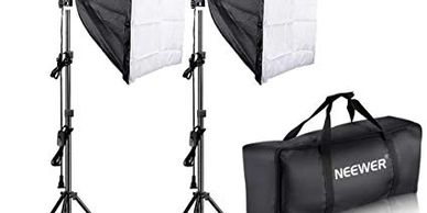 Neewer 700w Spair of Softboxes and Stands with Bag available on Amazon